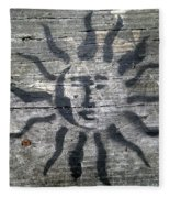 Face Of The Sun Fleece Blanket