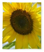 Face To Face With A Sunflower Fleece Blanket