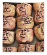 Faces Fleece Blanket