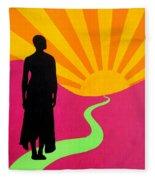 Facing East - A New Dawn Fleece Blanket