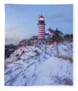 Facing East  Fleece Blanket