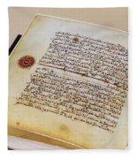 Facsimile Of A 13th Century Koran Fleece Blanket