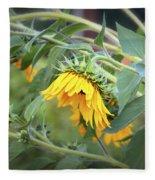 Fading Sunflower Fleece Blanket