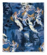 Fairies In The Moonlight French Textile Fleece Blanket
