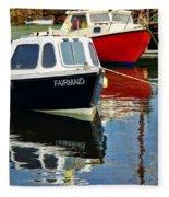 Fairmaid At Mousehole Harbour Fleece Blanket