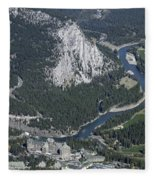 Fairmont Banff Springs Hotel And Golf Course Fleece Blanket