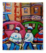 Fairmount Bagel Street Hockey Game Fleece Blanket