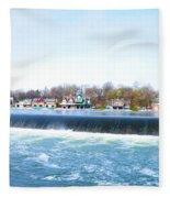 Fairmount Dam And Boathouse Row In Philadelphia Fleece Blanket