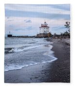 Fairport Harbor Breakwater Lighthouse Fleece Blanket