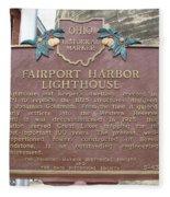 Fairport Harbor Lighthouse Fleece Blanket