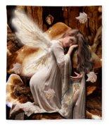 Fairy Of The Key Fleece Blanket