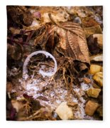 Fairy Ring Door Fleece Blanket