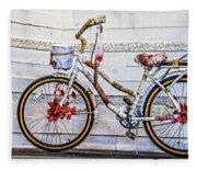 Fairy Tale Bike Flying Machine Fleece Blanket