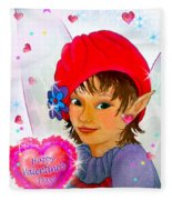 Fairy Valentine Fleece Blanket
