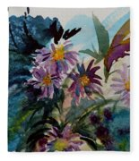 Fairyland Asters Fleece Blanket