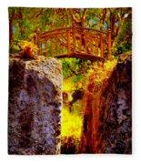 Fairytale Bridge Fleece Blanket