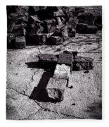Faith Among The Ruins Fleece Blanket