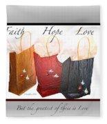 Faith Hope Love Fleece Blanket