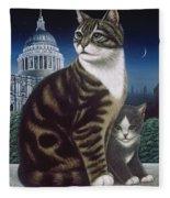 Faith, The St. Paul's Cat Fleece Blanket