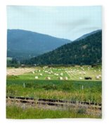 Falkland Hay Bales Fleece Blanket