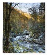 Fall Along Citico Creek Fleece Blanket