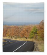 Fall Along The Country Highway 2 Fleece Blanket
