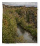 Fall Along The Creek Fleece Blanket