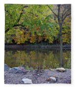 Fall Along The Scioto River Fleece Blanket