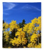 Fall Aspens Fleece Blanket