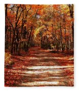 Fall At Cheesequake Fleece Blanket