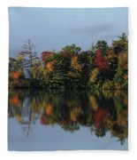 Fall At Heart Pond Fleece Blanket