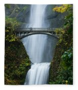 Fall At Multnomah Falls Fleece Blanket