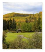Fall At The Course Fleece Blanket