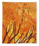 Fall At The Shore Fleece Blanket