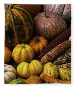 Fall Autumn Abundance Fleece Blanket