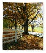 Fall Back Roads Fleece Blanket