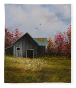 Fall Begins Fleece Blanket