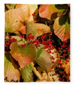 Fall Berries Fleece Blanket