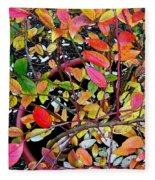 Fall Blueberry Bush Fleece Blanket