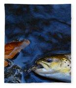 Fall Brown Trout Fleece Blanket