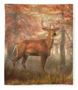 Fall Buck Fleece Blanket