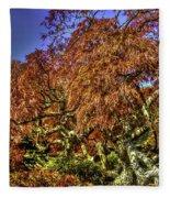 Fall Color At Biltmore Fleece Blanket