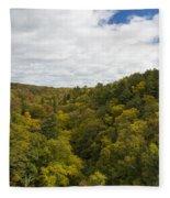 Fall Color Hills Mi 2 Fleece Blanket