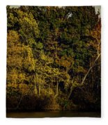 Fall Color Trees V8 Pano Fleece Blanket