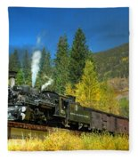 Fall Colored Bridge Fleece Blanket