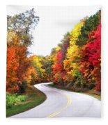 Fall Colors Along The Blueridge Parkway Fleece Blanket