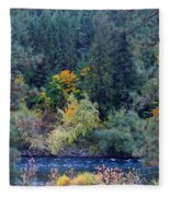 Fall Colors By The Spokane River Fleece Blanket