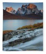 Fall Colors In Tasermiut Fiord Fleece Blanket