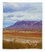 Fall Colors In The Lake Bed Fleece Blanket