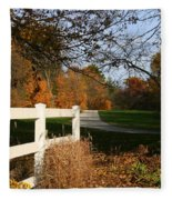 Fall Comes To The Hollow Fleece Blanket